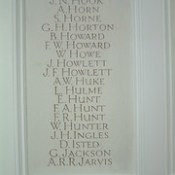 St Margaret Lowestoft War Memorial Chapel -  Hook to Jarvis