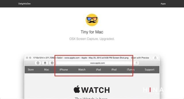 Tiny for Macでスクリーンショットのファイル名が自由自在