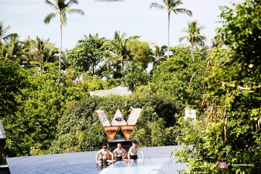 [蘇梅島.美食]W Hotel .近蘇梅島機場.無邊際座位區~必吃奢華雙人下午茶.美得不像話的景色 @VIVIYU小世界