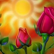 flowers wallpaper - 3d abstract wallpaper on desktop free download.