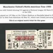 New York All Stars X1 v Manchester United May 14th 1950