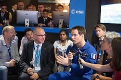 Thomas Pesquet at the ESA Pavilion