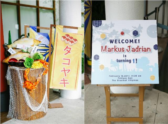Markus Japanese Street Fair Themed Party 1st Birthday Party