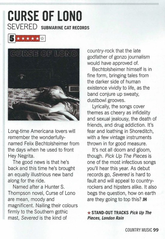 Curse Of Lono - Country Music Mag Review 12.7.17