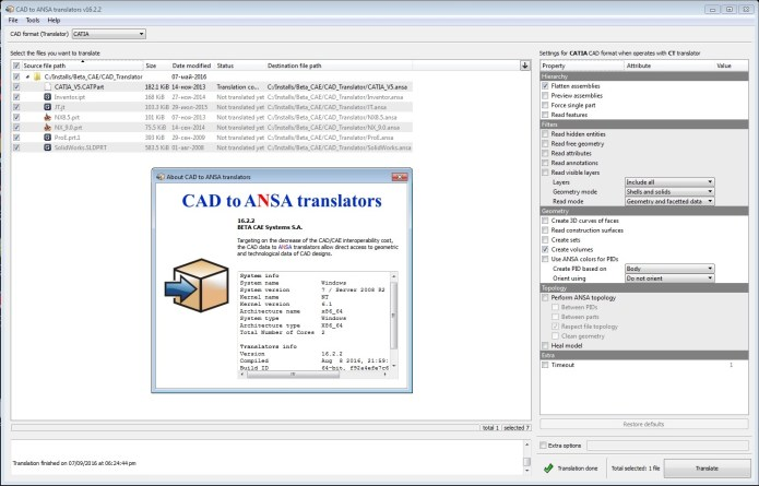Working with BETA CAE CAD Translator v16.2.2 full license