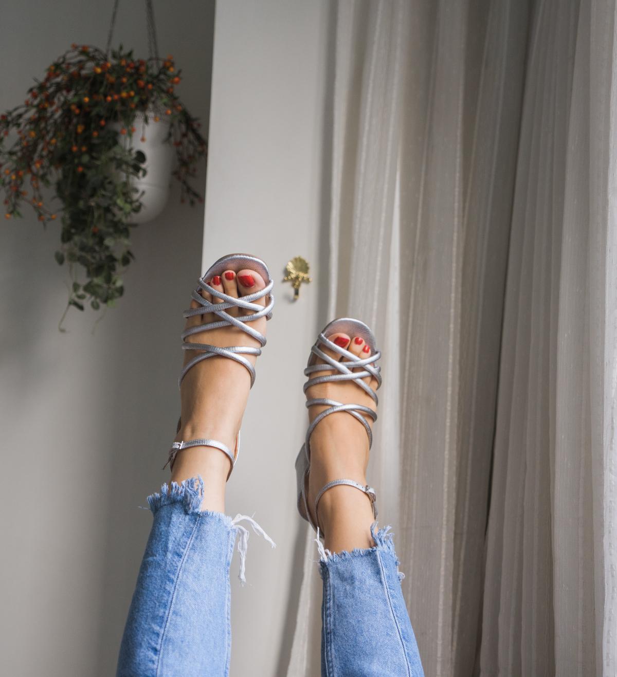 parfois silver heels sale
