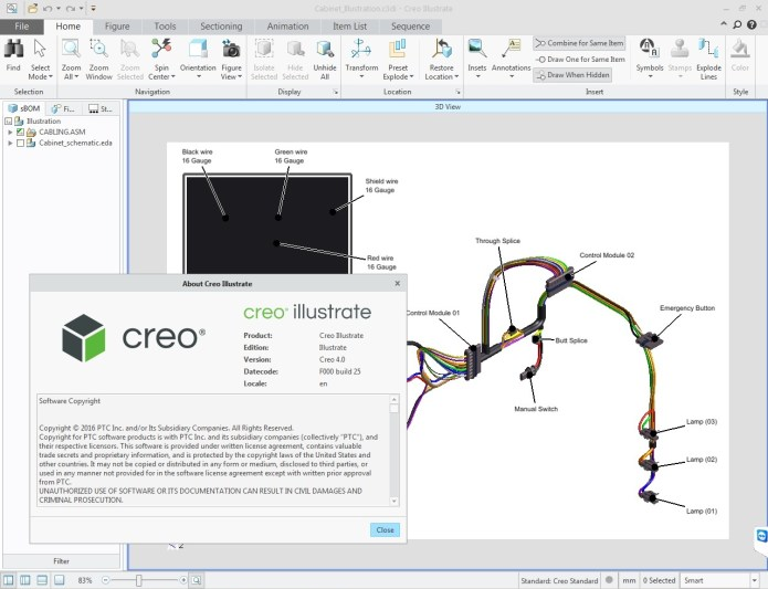 PTC Creo Illustrate 4.0 F000 32BIT 64BIT full license