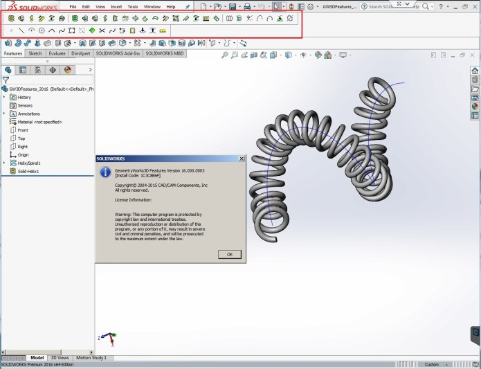 GeometryWorks 3D Features V16.0.3 for SolidWorks 2016