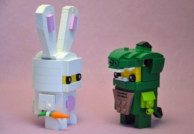 Bunny Suit Guy and Lizard Man Brickheadz