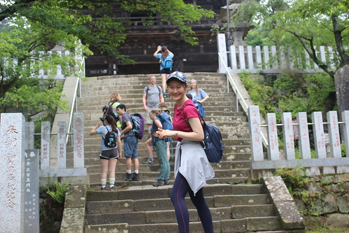 Ascending to the shrine at the base of Mt. Tsukuba