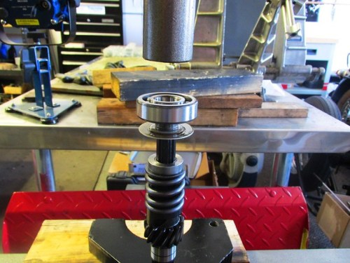 Ready to Press Input Shaft Rear Ball Bearing Onto Shaft