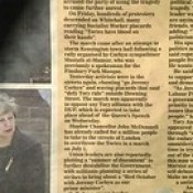 Sunday Express 18 June 2017 page 5 news of exploitation of tragedy for political ends by Corbynism