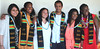 LaJoya Reed Shelly (far right), Black Student Association President, joined her fellow UH Mānoa scholars at the Spring 2017 Black Graduation Ceremony.