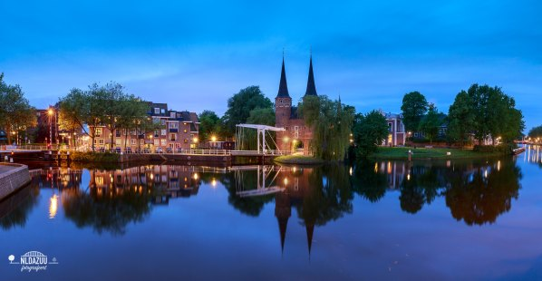 Revisited Delft the old town at bluehour