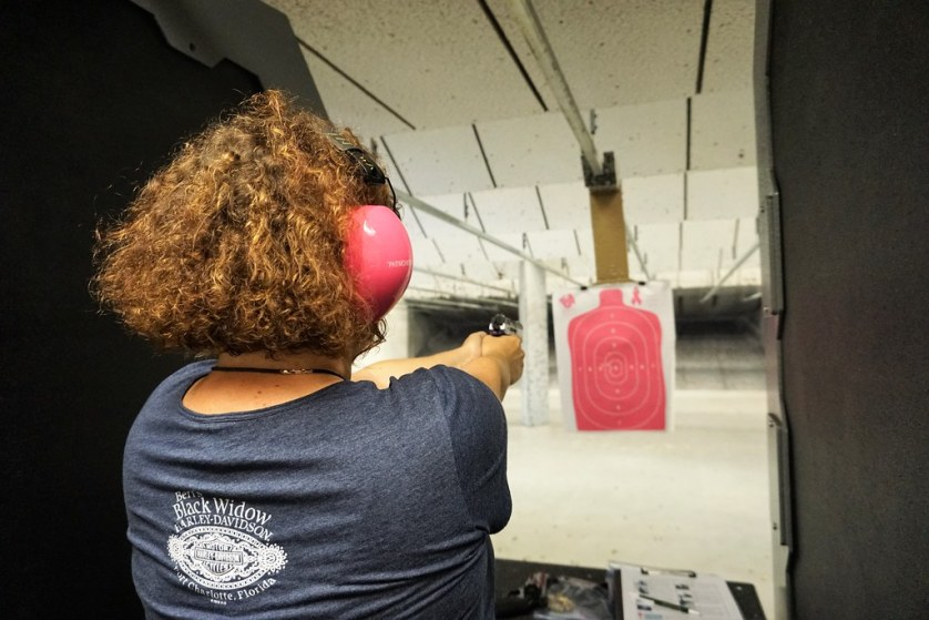 That's Me at the Gun Range - Female Firearms Training with Instructor Shirley King, Port Charlotte, Fla., April 29, 2017