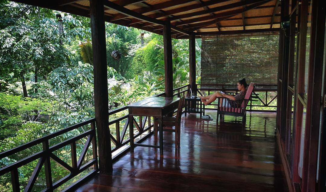 not a bad way to spend the day. . . . #bungalow #travelgram #travelling #instatravel #traveling #photooftheday #arountheworld #luangprabang #laospiritresort #igtravel #jungle #bungalow #laos #trip #travel #laospirit #instapassport #traveldeeper #instatrav