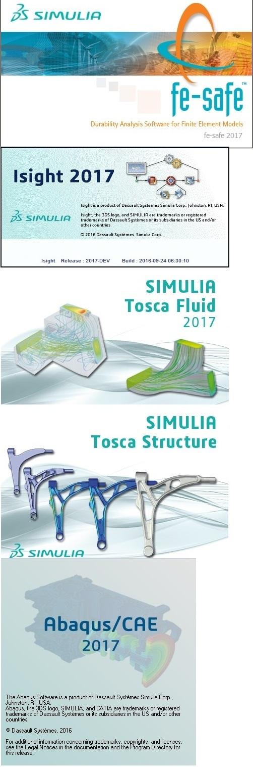 DS SIMULIA Suite Abaqus Isight Fe-safe Tosca 2017