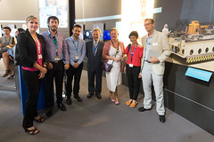 The Andalusian delegation visits the ESA Pavilion