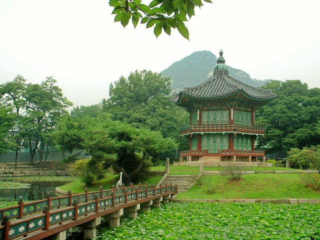 Picture from Gyeongbok Palace in Seoul