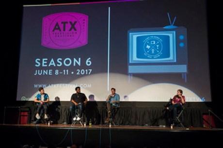 Adam Scott, Craig Robinson, Tom Gormican and Moderator Marisa Roffman