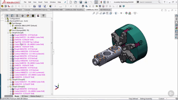 CAMWorks Fundamentals Milling 2.5 3 Axis training videos
