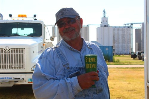 "Uncle Steve with his famous ""Stevie Weevie"" coffee cup."