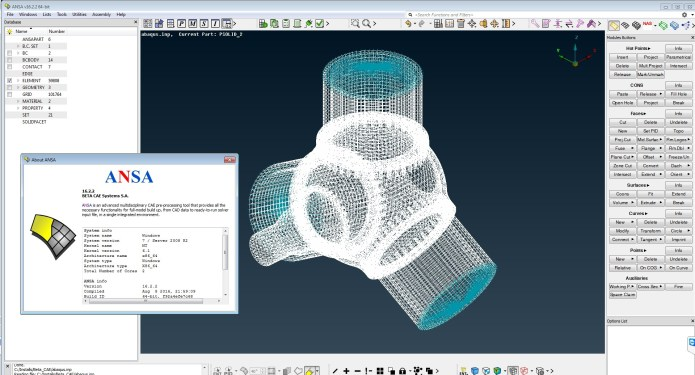 Working with BETA CAE ANSA v16.2.2 64bit full license