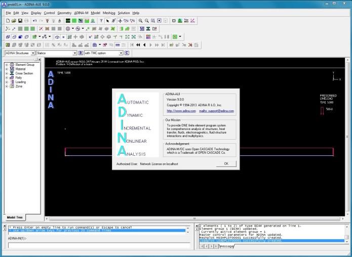 Working with ADINA System 9.0 32bit 64bit full