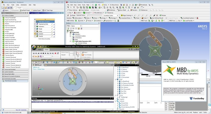 Working with FunctionBay Multi-Body Dynamics for ANSYS 17.2 Win64 full