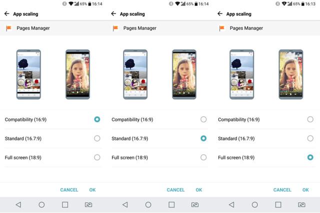 App scaling ให้เลือกว่าจะให้แอปไหนแสดงผลที่สัดส่วนไหน