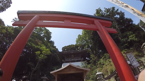 Torii gate signaling sacred space