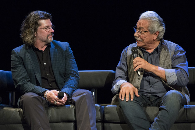 Ronald D. Moore and Edward James Olmos