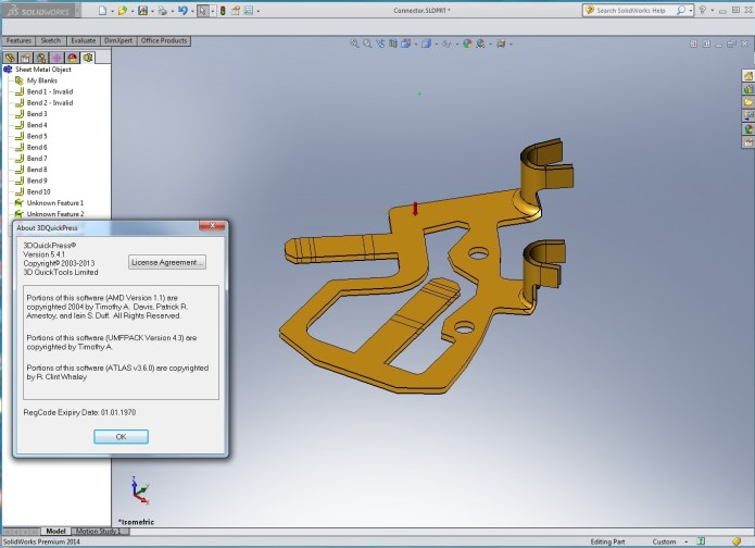 Designing with 3DQuickPress v5.4.1 for SolidWorks 2009-2014 full license