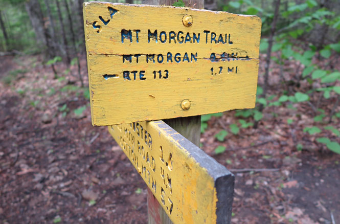 Crawford-Ridgepole Trail Sign