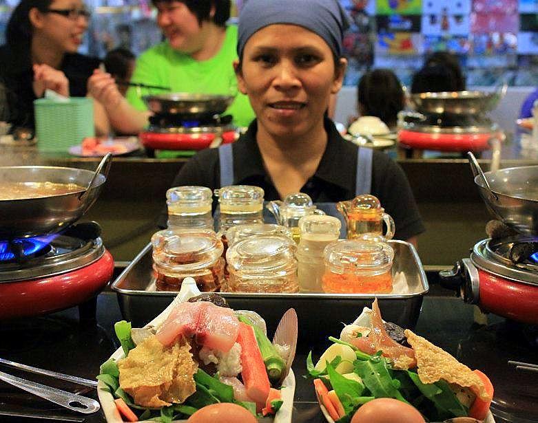 Steam boat is a popular food in Kuala Lumpur