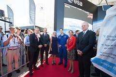 Segolene Royal at the ESA Pavilion