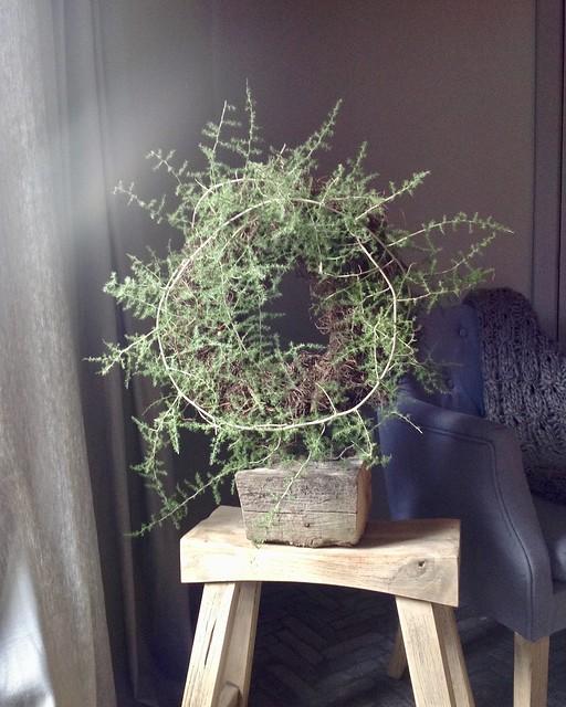 Houten krukje asparagus