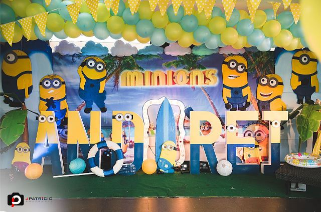 True To Its Theme The Party Tables Were Spruced Up With None Other Than Minions Table Numbers Printed On Minion Cards And A Figure Served As