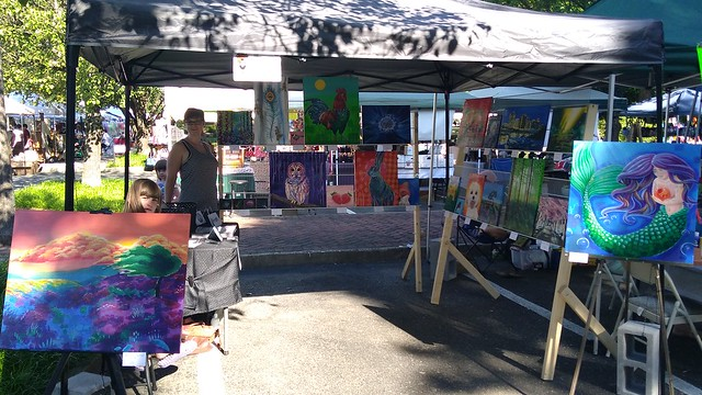 Set up at the Ashland Strawberry Faire