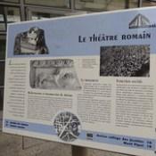 Roman Theatre - Rue du Cirque, Vienne - sign