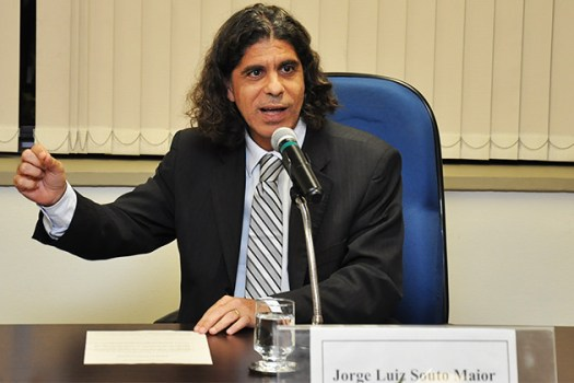 Juiz Jorge Luiz Souto Maior em palestra na Escola Judicial do TRT-15 - Créditos: Isabela Rodrigues/TRT 15ª região