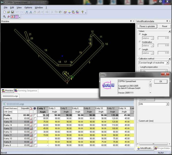 working with COPRA RF V2005 SR1 full