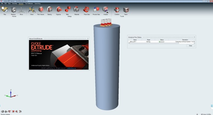 working with solidThinking Click2Extrude Metal-Polymer 2017 full