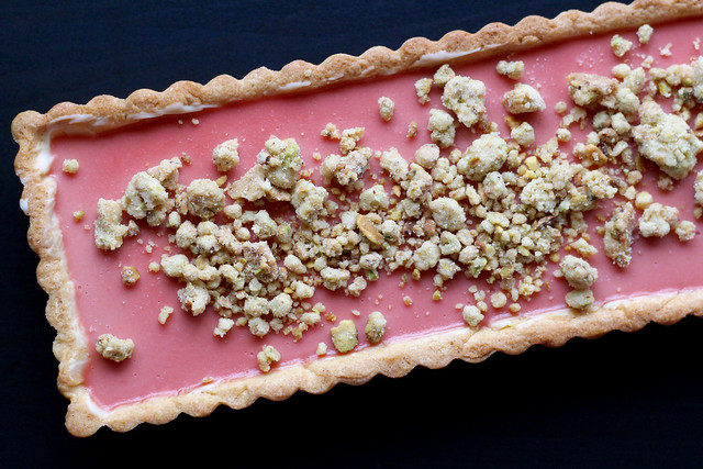 Rhubarb-Raspberry Pistachio Tart - 30
