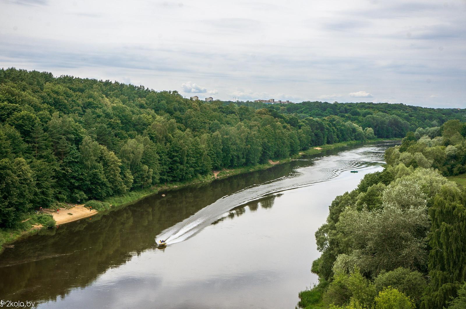 Вид с моста в Гродно на Неман