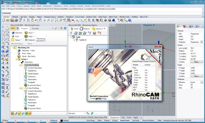 Working with RhinoCAM 2016 for Rhino5 x86 x64 full license
