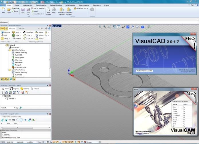 machining with MecSoft VisualCADCAM 2017 full crack