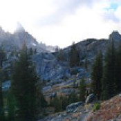 Day 28 of 40; The Minarets, the last stretch of trail before the lake