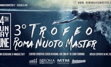 Corsia Master, il 3° Trofeo Roma Nuoto Master vi aspetta!
