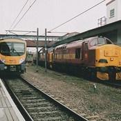 First Transpennine Express Class 185, 185139 & English Welsh & Scottish Railway Class 37's, 37670